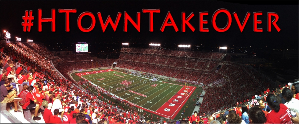 modified: put text #htowntakeover on pic, gave it red tinti
