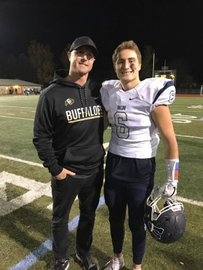 Coach Chev with his son